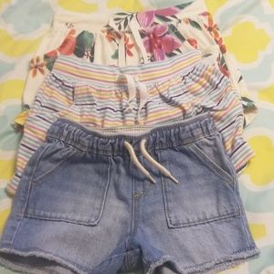 3 pairs of 4T shorts one new with tags